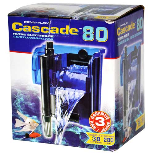 PENN PLAX CASCADE 80 280l/h do 38l vnější závěsný akváriový filtr