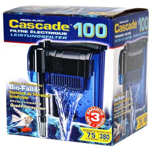 PENN PLAX CASCADE 100 380l/h do 75l vnější závěsný akváriový filtr