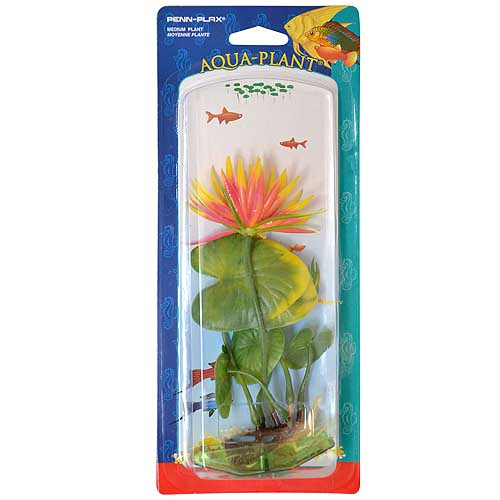 PENN PLAX Rostl.umělá 21,5cm M Red Water Lily