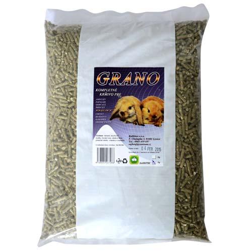 RABBITEX GRANO 1kg kompletní granulované krmivo pro zakrslé králíky