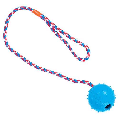 TP Hračka pro psy míček na laně s rolničkou 5-7cm/40-60cm