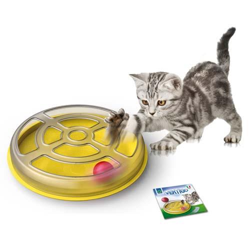 COBBYS PET Vertigo 29 x 5cm interaktivní hračka pro kočky s míčem