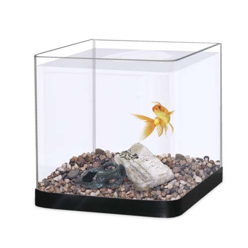 NANOS PANORAMA 8l akvárium 20x20x20cm černé