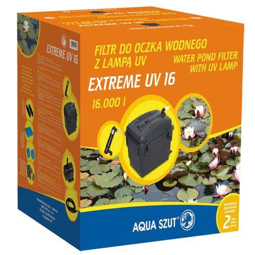 AQUA SZUT EXTREME UV 16 16.000l, 2.000-2.500 l/h, 5 druhů filtračního materiálu s UV lampou 11W, ideální s KASKADA 3.600