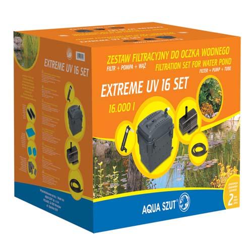 AQUA SZUT EXTREME S 16 SET obsahuje UV 11W + čerpadlo KASKADA 3.600 + hadici + 3 trysky