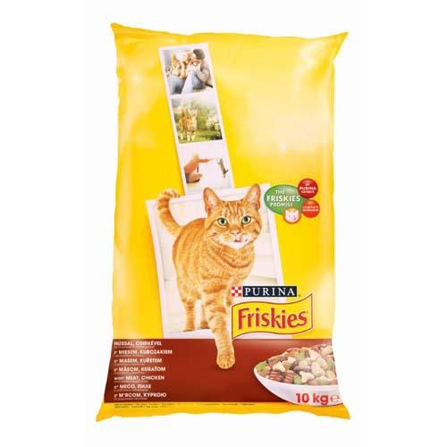 FRISKIES Maso, kuře a zelenina 10kg granule pro kočky