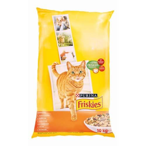 FRISKIES Kuře 10kg granule pro kočky
