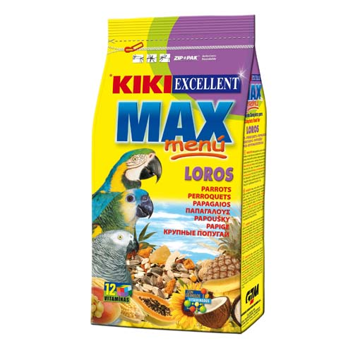 KIKI MAX Menu Parrots 2kg velké papoušky
