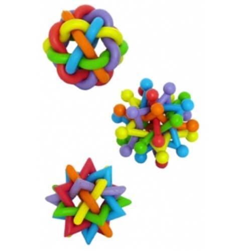 PAPILLON Rubber multi colour balls 7-8 cm Gumové barevné míče