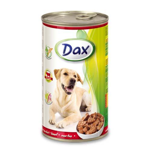 DAX konzerva pro psy 1240g s hovězím masem