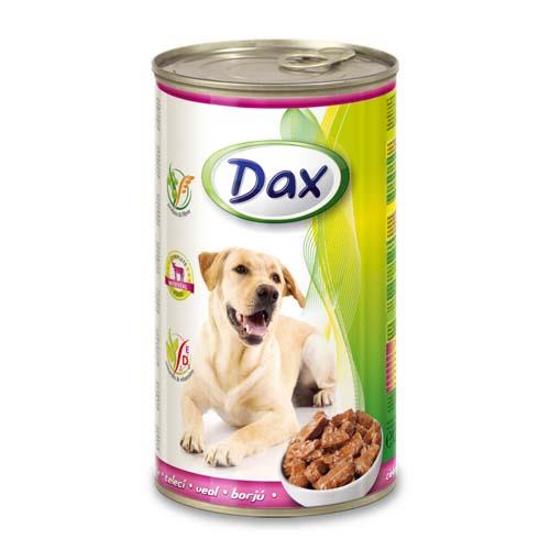 DAX konzerva pro psy 1240g s telecím masem