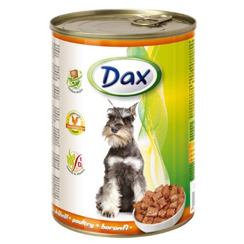 DAX konzerva pro psy 400g s drůbeží