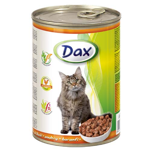 DAX konzerva pro kočky 415g s drůbeží