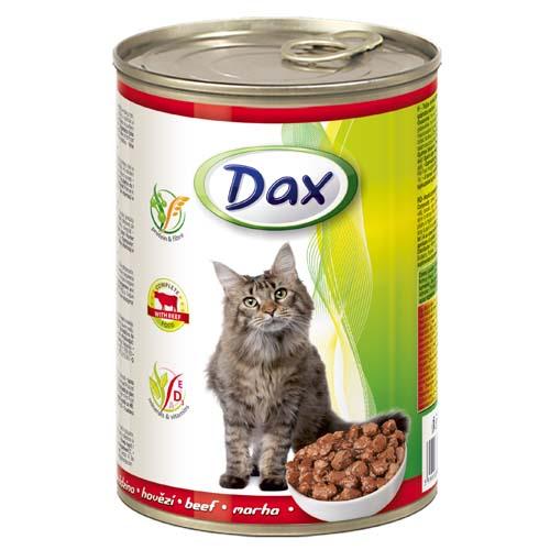 DAX konzerva pro kočky 415g s hovězím masem