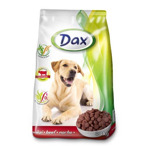 DAX Dog Dry 3kg Beef granulované krmivo pro psy hovězí