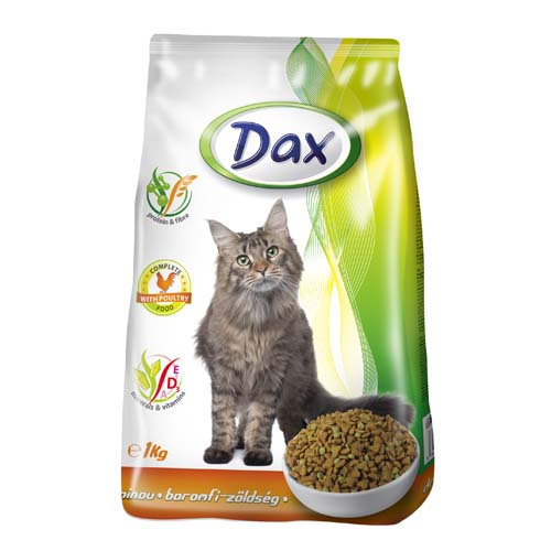 DAX Cat Dry 1kg Poultry-Vegetables granulované krmivo pro kočky drůbež + zelenina