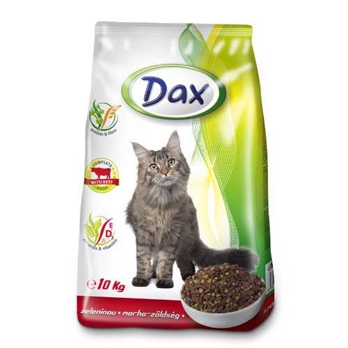 DAX Cat Dry 10kg Beef-Vegetables granulované krmivo pro kočky hovězí + zelenina