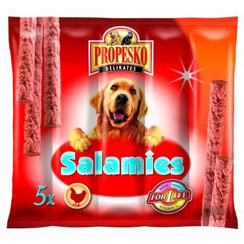 PROPESKO DELIKATES SALAMIS 5ks 55g drůbeží klobásky pro psy