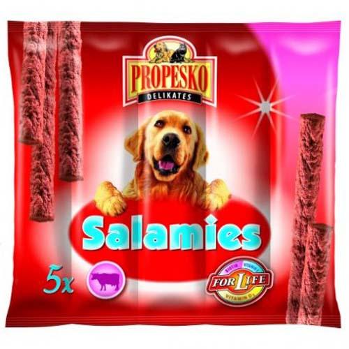 PROPESKO DELIKATES SALAMIS 5ks 55g hovězí klobásky pro psy