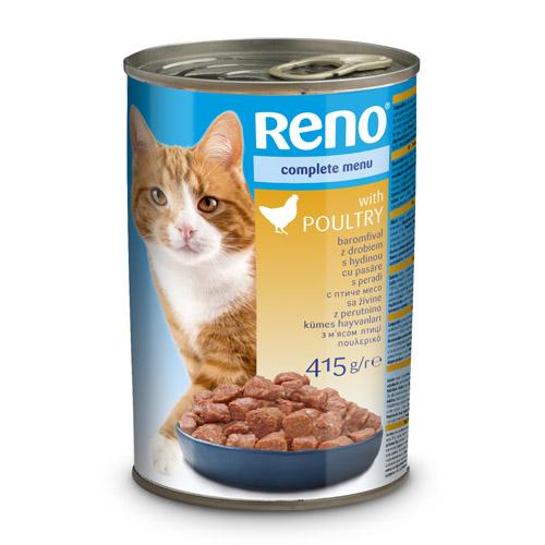 RENO konzerva pro kočky kousky kuřecí 415g