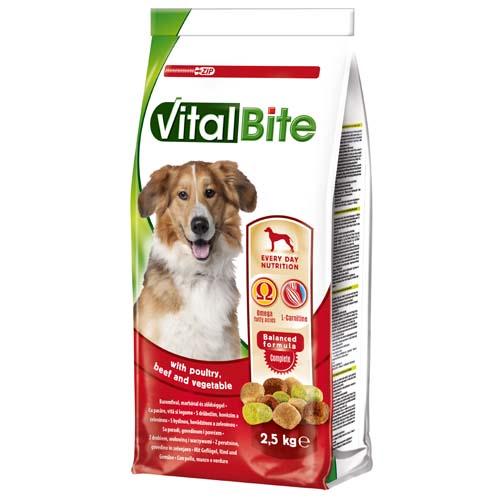 VitalBite granule pro psy 2,5 kg kuře a hovězí