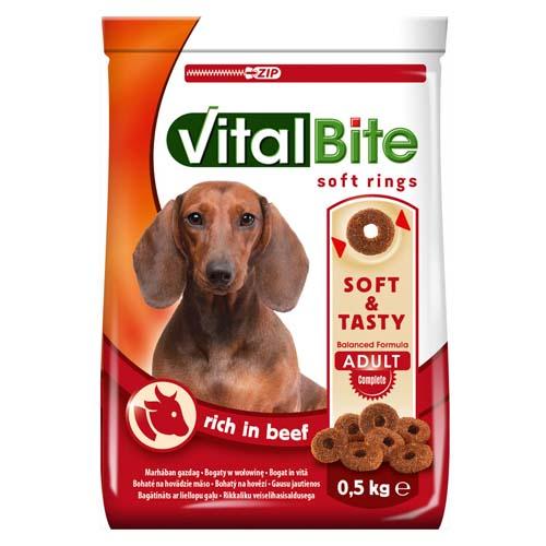 VitalBite měkké granule pro psy 500g hovězí