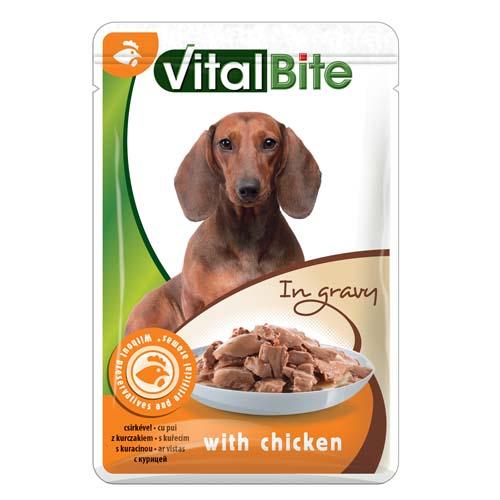 VitalBite kapsička pro psy 85g kuřecí