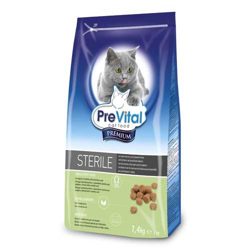 PreVital Premium granule pro kastrované kočky 1,4kg