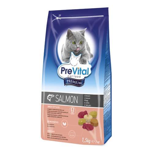 PreVital Premium granule pro kočky 1,5kg lososové