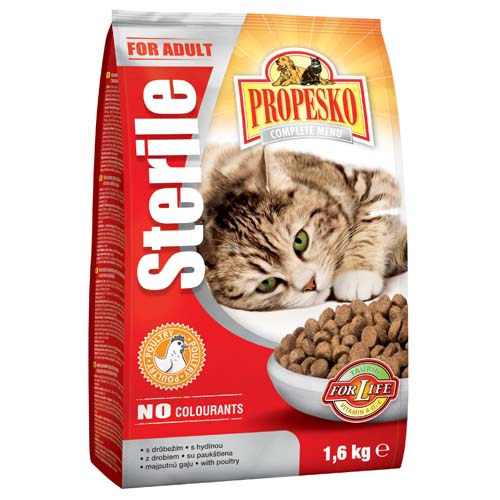 Propesko granule pro sterilizované kočky 1,6 kg - kuřecí