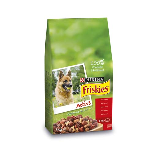 FRISKIES ACTIVE 3kg krmivo pro psy