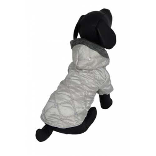PAPILLON Jacket Glamour 40cm Lesklá bunda šedá pro psa