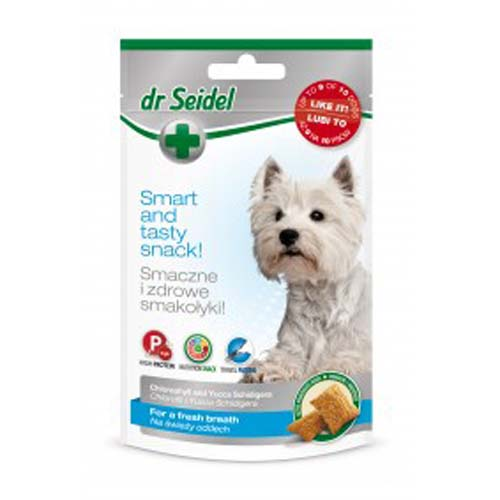 DR. SEIDEL snacks for dogs - Zdravé pochoutky pro psy - pro svěží dech 90g