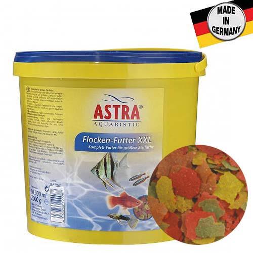 ASTRA FLOCKEN-FUTTER XXL 10 l / 2.000g krmivo z velkých vloček pro velké druhy akvarijních ryb