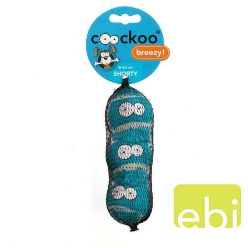 EBI COOCKOO tenisový míč malý 3ks 4,8cm modrá