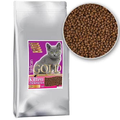 WELLCAN GOLD CAT KITTEN 34/22 10kg speciální receptura pro koťata a rostoucí kočky