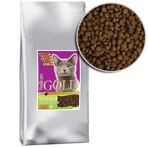 WELLCAN GOLD CAT SENIOR 28/20 10kg speciální receptura pro stárnoucí kočky