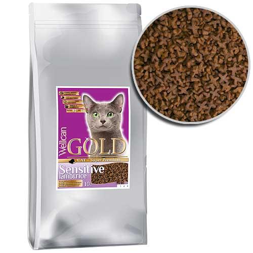 WELLCAN GOLD CAT SENSITIVE 32/18 10kg speciální receptura pro citlivé kočky