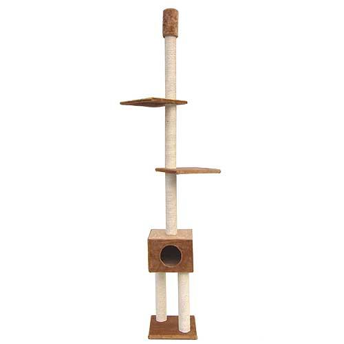 EBI CLASSIC BOBY 38x38x240-265cm -9cm kočičí strom béžový